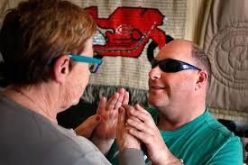 Blind And Deaf Woman Deafblind Services Blind Foundation