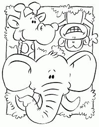 Preschool Jungle Coloring Pages | coloring sheets jungle animals toddler preschool jungle theme