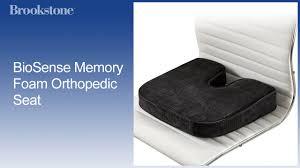 Memory Foam Chair Pad Biosense Memory Foam Orthopedic Seat Youtube