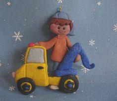 polymer clay milestone christmas ornament boy deer hunter blaze