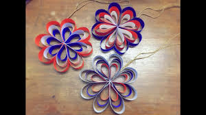 how to make a hanging paper flower for easy decorations 4th