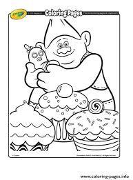 biggie dinkles 2 trolls coloring pages printable