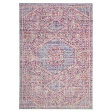 Lavender Area Rugs Safavieh Lavender Pink Distressed Silky Polyester Area