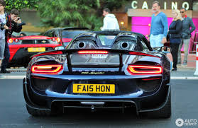 porsche spyder 918 porsche 918 spyder weissach package 27 april 2017 autogespot