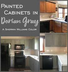 kitchen paint color for gray cabinets painted kitchen cabinets in sherwin williams dorian gray