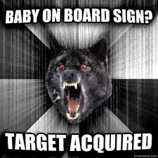 Baby On Board Meme - livememe com insanity wolf