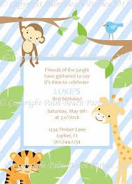 Birthday Invitation Card For Baby Boy Monkey Theme Baby Shower Invitation Ideas Registaz Com