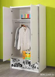 armoire chambre 2 portes armoire enfant contemporaine 2 portes coloris blanc gris debby