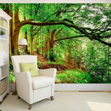 online get cheap trees wall paper aliexpress com alibaba group custom any size 3d wall mural wallpaper non woven green forest trees photo background photography