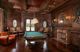 Coffered Ceiling Lighting by Billiards Room Design Family Room Traditional With Coffered