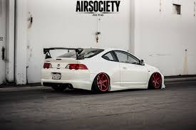 stancenation honda prelude acura rsx honda integra air suspension ride bagged stance white