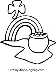 rainbow pot of gold coloring pages pot of gold u0026 rainbow st patrick u0027s coloring pages free