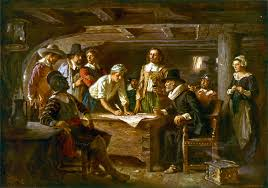 the pilgrims mayflower compact and thanksgiving drive thru history