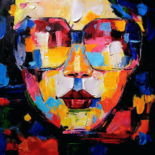 5 piece canvas wall art hand painted palette knife oil wall arts wall art women face abstract painting handmade oil