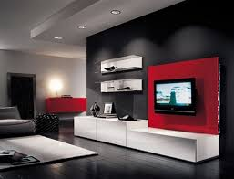 Red Living Room Chair by Modern Furniture Living Room Design With Lcd Tv Architecture