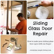 How To Fix A Patio Door Sliding Glass Door Repair Everyday Simple Living
