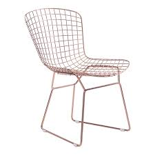 Modern Dining Chairs Wire Modern Dining Chair Gold