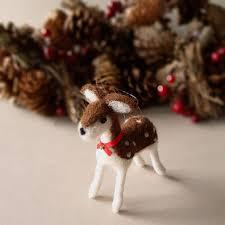 Deer Home Decor by Deer Ornament Christmas Home Decor Needle Felt Miniature
