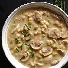turkey gravy with porcini mushrooms cream of mushroom u0026 barley soup recipe creamy mushroom soup