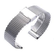 mesh steel bracelet images High quality 20mm 22mm black silver golden ultra thin stainless jpg
