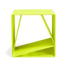 Yellow Side Table Tjokeefe Steel Side Table Fluorescent Yellow Floor Sample