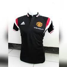 Harga Baju Adidas Polo jual baju bola polo manchester united warna hitam adidas chevrolet