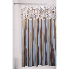 Shower Curtain Blue Brown Retro Shower Curtains Shower Curtains Outlet