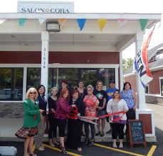 new crystal lake chamber member salon cora celebrates with a