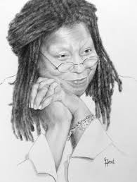 drawn celebrity monochromatic pencil and in color drawn