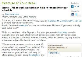 Desk Exercises At Work Employee Wellness Communications U2014 Free Range Communication