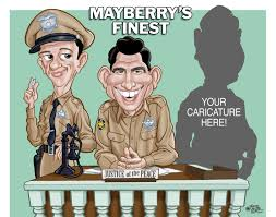 andy griffith show personalized caricature