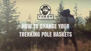 chagne baskets how to change trekking and snowshoe pole baskets