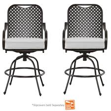 Slipcovers For Patio Furniture Cushions by Hampton Bay Fall River 2 Piece Metal Motion Outdoor Dining Chair