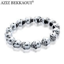 bracelet skull beads images Aziz bekkaoui 925 silver skull beads fit diy charm bracelets cool jpg