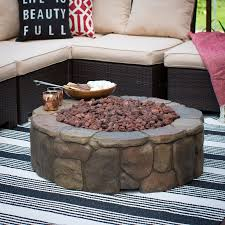 Patio Propane Fire Pit Red Ember 36 In Clarksville Campfire Fire Pit With Free Cover