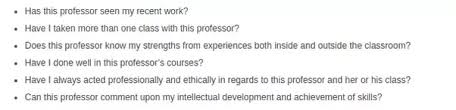 what is the most effective way to ask a professor for a dental