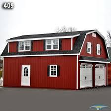 gambrel garage 2 car 2 story garage two story garage horizon structures
