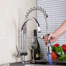 aliexpress com buy double spouts led kitchen faucets single