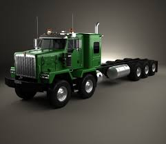 kenworth 2016 models kenworth c500 chassis truck 5axle 2001 3d model hum3d
