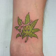 pot leaf tattoo by echo tattooz on deviantart