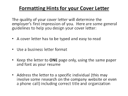 presentation letter writing cover letters ppt