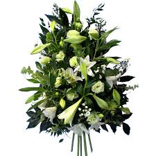 funeral spray funeral spray white magnolia flowers tring