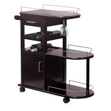 amazon com winsome wood entertainment cart espresso kitchen