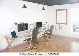 bureau vide écrans bureau vide révéler ville haut dessus bureau