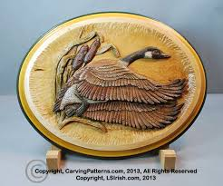 Easy Wood Burning Patterns Free by Step By Step Photo Instruction Relief Wood Carving Canada Goose
