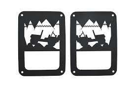 jeep wrangler light covers kentrol 80702 jeep heritage light guards for 07 17 jeep