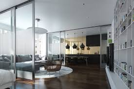 Room Dividers Floor To Ceiling - staggering apartment divider wall with door comes with light metal