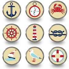 themed knobs nautical knobs