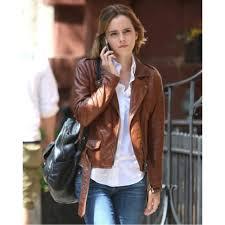 biker jacket women emma watson leather jacket celebrity biker leather jackets