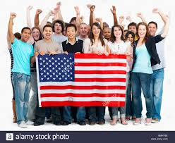 Flag People Group Of People Holding American Flag Stock Photo Royalty Free